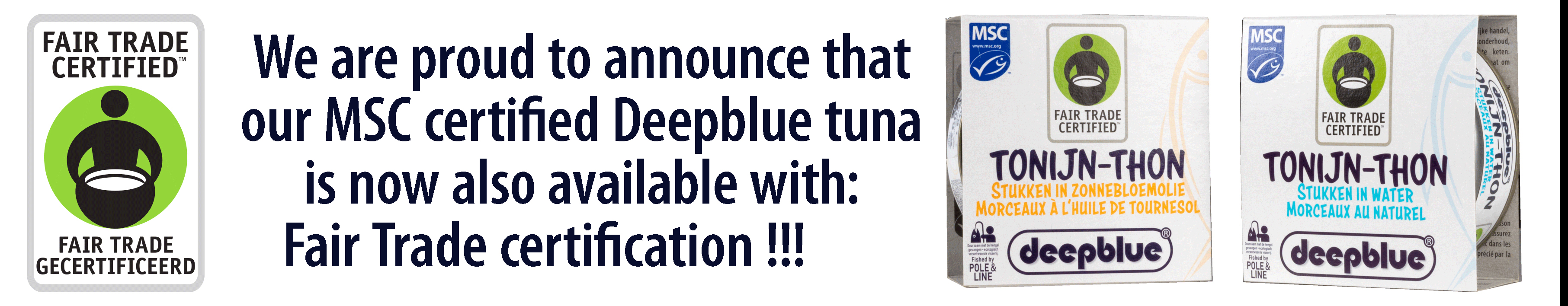 New fairtrade MSC Tuna in our product Range at Gloe & Zeitz BV